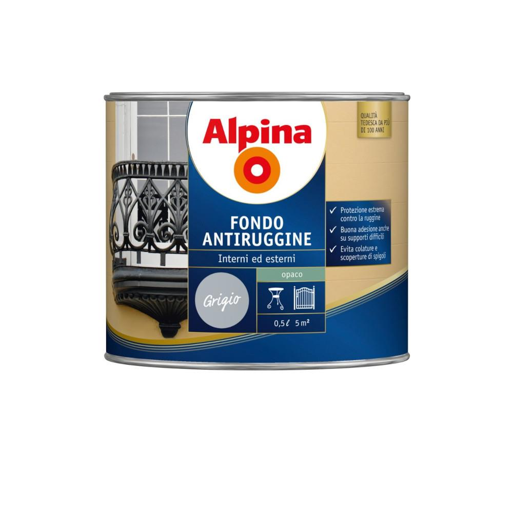 Alpina - Fondo antiruggine grigio 0,5 L